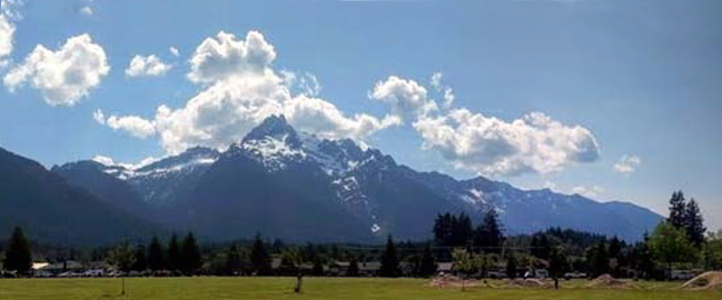 White Horse Mountain, from Old School Park, Darrington, WA